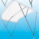 CAPOTTINA PARASOLE – 3 ARCHI ACCIAIO INOX COLORE BIANCO LARG. 245 CM